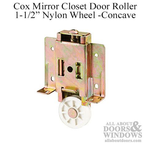 cox mirror closet door roller 1 1 2 wheel concave