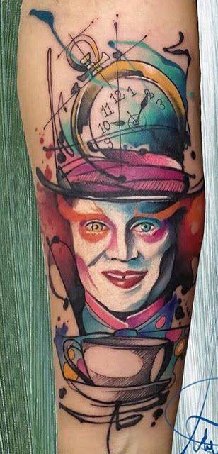 """Tatuaje de Alicia en el País de las Maravillas : """"El"""