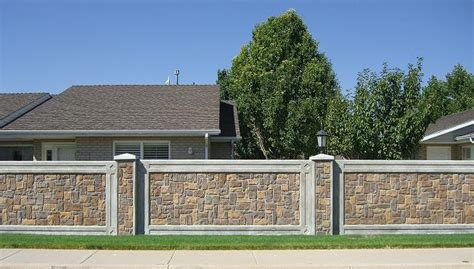 wall fence pictures precast fencing architectual wall panels by structurecast stonetree fencing panels