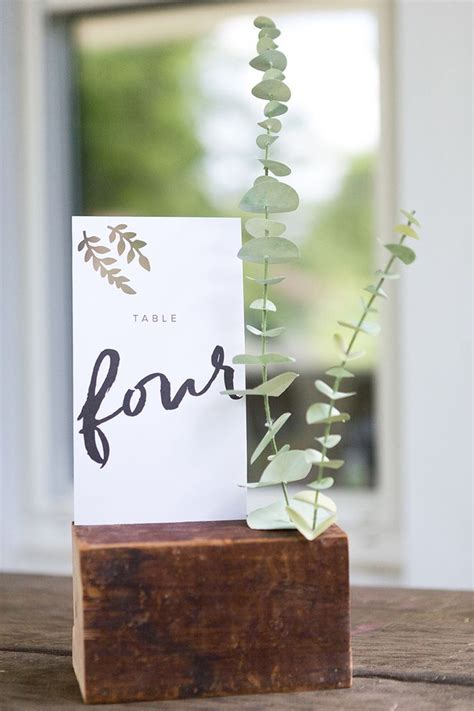 Diy Paper Eucalyptus Seating Chart Place Cards Table