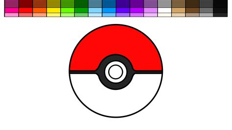 Learn Colors For Kids And Color Go Pokemon Ball With A