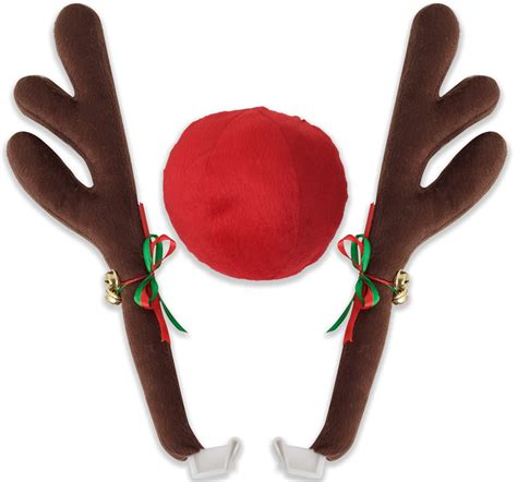 rudolph antlers reindeer antlers nose car vehicle costume rudolph holiday ornament decoration ebay