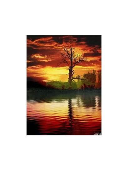 Sunset Animated Gifs Giphy Amazing Nature Sunrise
