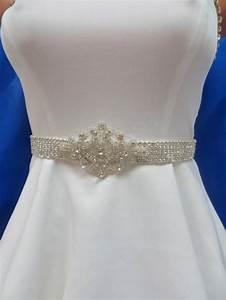 rhinestone crystal sash beaded bridal belt wedding gown With beaded belt for wedding dress