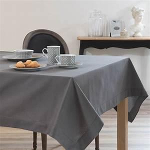 Tischdecke 350 X 150 : tischdecke aus baumwolle anthrazit 150x350 maisons du ~ Watch28wear.com Haus und Dekorationen