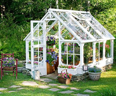 Then use old windows to construct the doors on it so the sunlight can get through. Greenhouse SHE Shed - 22 Awesome DIY Kit Ideas