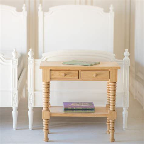 bronwyn spindle side table   beautiful bed company