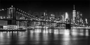 New York Poster : melanie viola night skylines new york ii black and white poster posterlounge ~ Orissabook.com Haus und Dekorationen