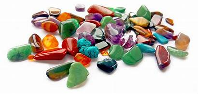 Precious Semi Gemstones Gems Background Coloured Bright