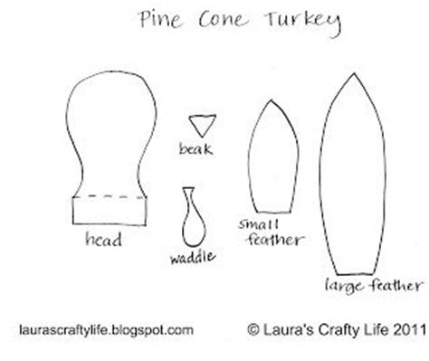 The Chew Templates Pine Cones Animals by The 25 Best Turkey Template Ideas On Pinterest Fall
