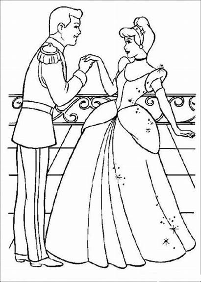 Coloring Cinderella Pages Disney Princess Colouring