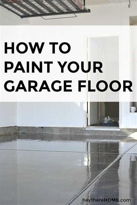 paint for garage floor how to paint your garage floor