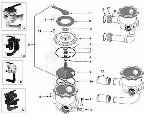 Sta-rite Sidemount Valves 1 5 U0026quot   U0026 2 U0026quot  Parts