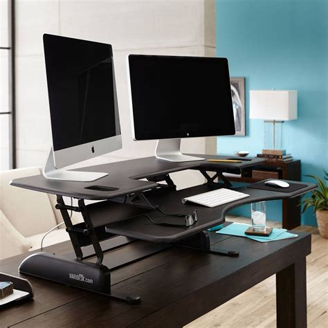varidesk pro desk 48 large sit stand desk pro plus 48 varidesk