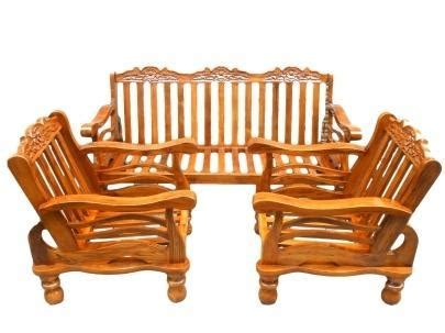 Wooden Sofa Set With Price by Teak Wooden Sofa Set With Cushion At Rs 28000 Set S