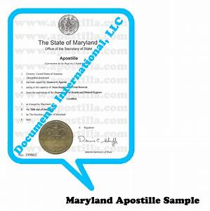 maryland apostille apostillacom With apostille documents international