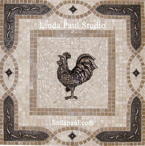 tin tiles for backsplash in kitchen rooster tile medallions kitchen backsplashes with rooster