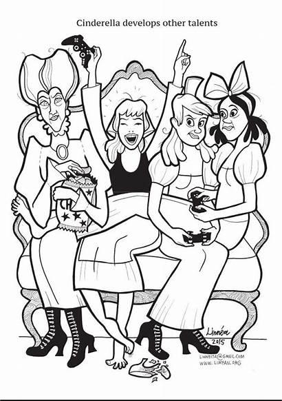 Coloring Strong Princess Super Pages Johansson Princesses