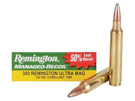 Remington Managed-recoil Ammo 300 Remington Ultra Mag 150