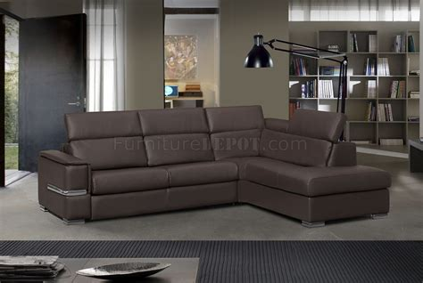 leather sleeper sectional limo sectional sofa in brown leather by esf w sleeper
