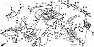 Honda Atv 2008 Oem Parts Diagram For Rear Fender