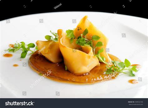canapã hay dining ragu ravioli on stock photo 258532190