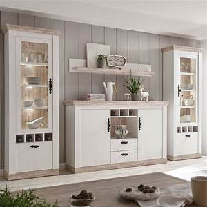 Highboard Landhaus Weiß : landhaus wohnwand mit highboard ferna 61 oslo pinie dunkel ~ Watch28wear.com Haus und Dekorationen