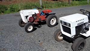 New Classic Vintage 1965 Sears Custom 6 Recoil  U0026 1978 Roper 11 Garden Tractor