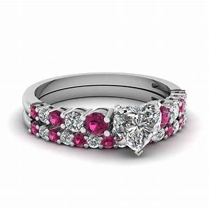 heart shaped engagement rings fascinating diamonds With heart diamond wedding ring set