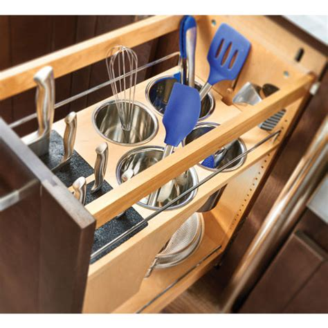 kitchen utensil organizer rev a shelf pull out knife and utensil base cabinet 3422