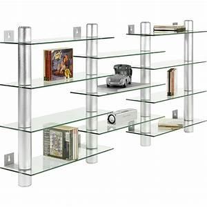 Design Dvd Regal : stilista design glas aluminium cd dvd regal wandregal f 300 cds ebay ~ Sanjose-hotels-ca.com Haus und Dekorationen