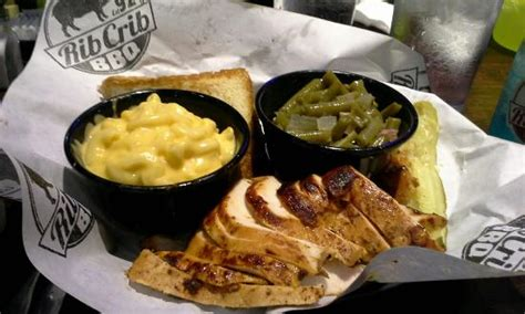 chicken and rib crib grilled chicken breast w 2 sides and toast