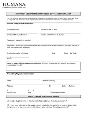 20 printable humana forms prior authorization templates fillable sles in pdf word to