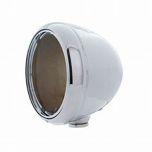 7 U0026quot  Chrome Guide Style Headlight Lamp Bucket Housing W   Rim