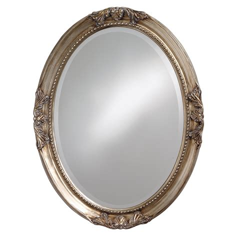 oval bath mirror lisette silver wood oval mirror free shipping today