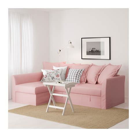 holmsund corner sofa bed ransta light pink ikea