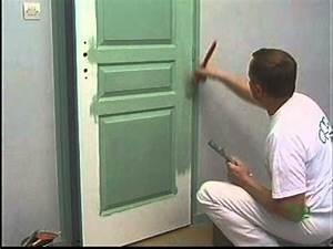 peindre sur une porte a panneaux finition lissee With peindre une porte postformee