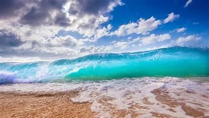 Ocean Surf Foam Beach Hawaii 1080p Background
