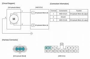 Hyundai Santa Fe  Oil Hydraulic Motor Actuator   Schematic Diagrams - Coupling Assembly