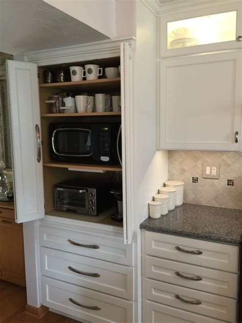 Appliance Cabinet Great To Hide Microwave, Toaster Oven