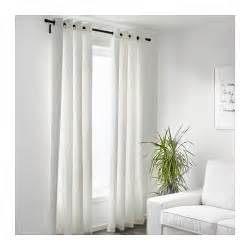 merete curtains 1 pair white 145x300 cm ikea
