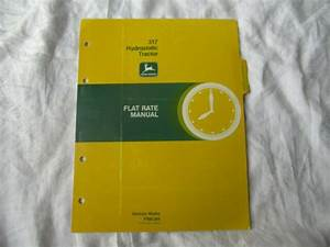 John Deere 317 Lawn Tractor Service Pricing Guide Flat