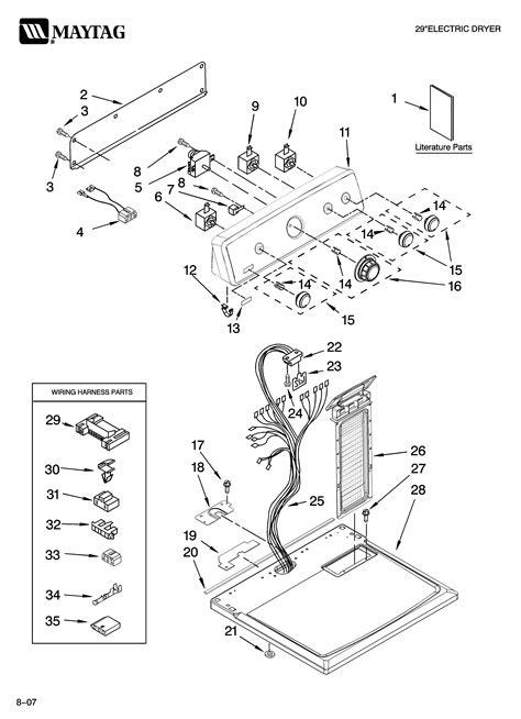 maytag residential dryer parts model medtq sears