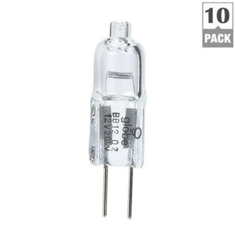 globe electric 20 watt jc clear halogen g4 bi pin base
