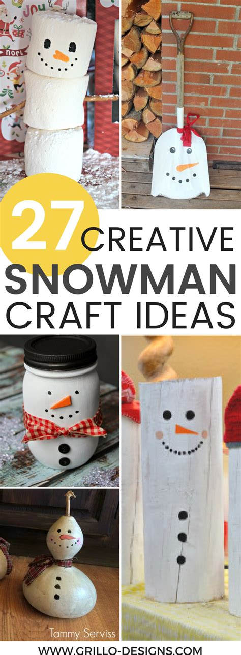 creative diy snowman decorations grillo designs
