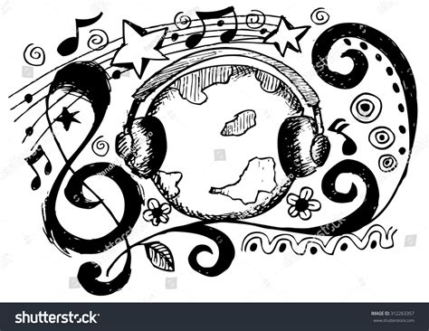 drawing design music drawing design stock vector illustration 312263357 shutterstock