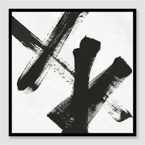 Abstract Paintings Black And White by Black And White Manjuzaka Wall