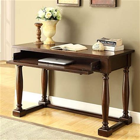 solid wood writing desk with drawers function as a writing desk or lap top desk solid wood