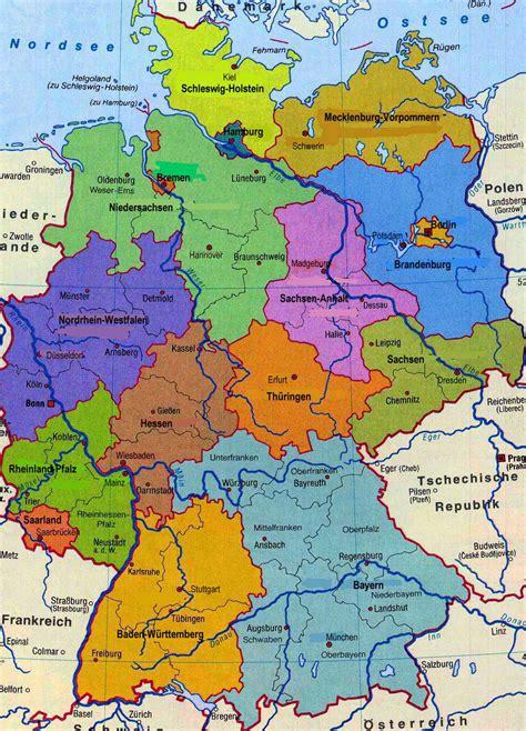 deutschlandkarte blog karte der bundesrepublik