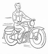 Coloring Motorcycle Pages Printable Bike Riding Momjunction Getcolorings Cool Toddler Jeep sketch template